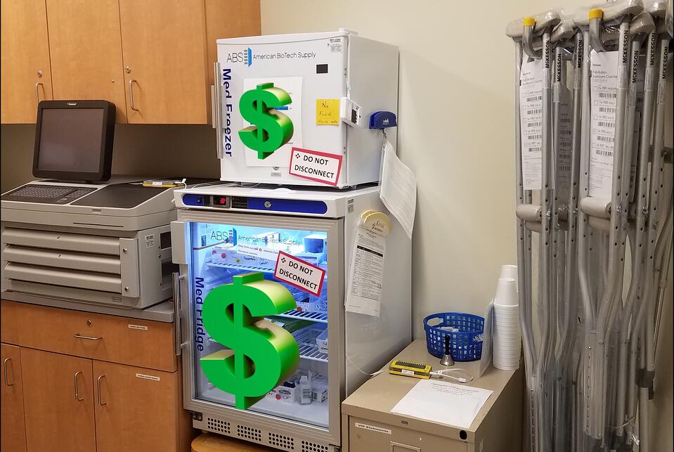 Lab Vaccine Refrigerator and Freezer with Costly Medicine.jpg