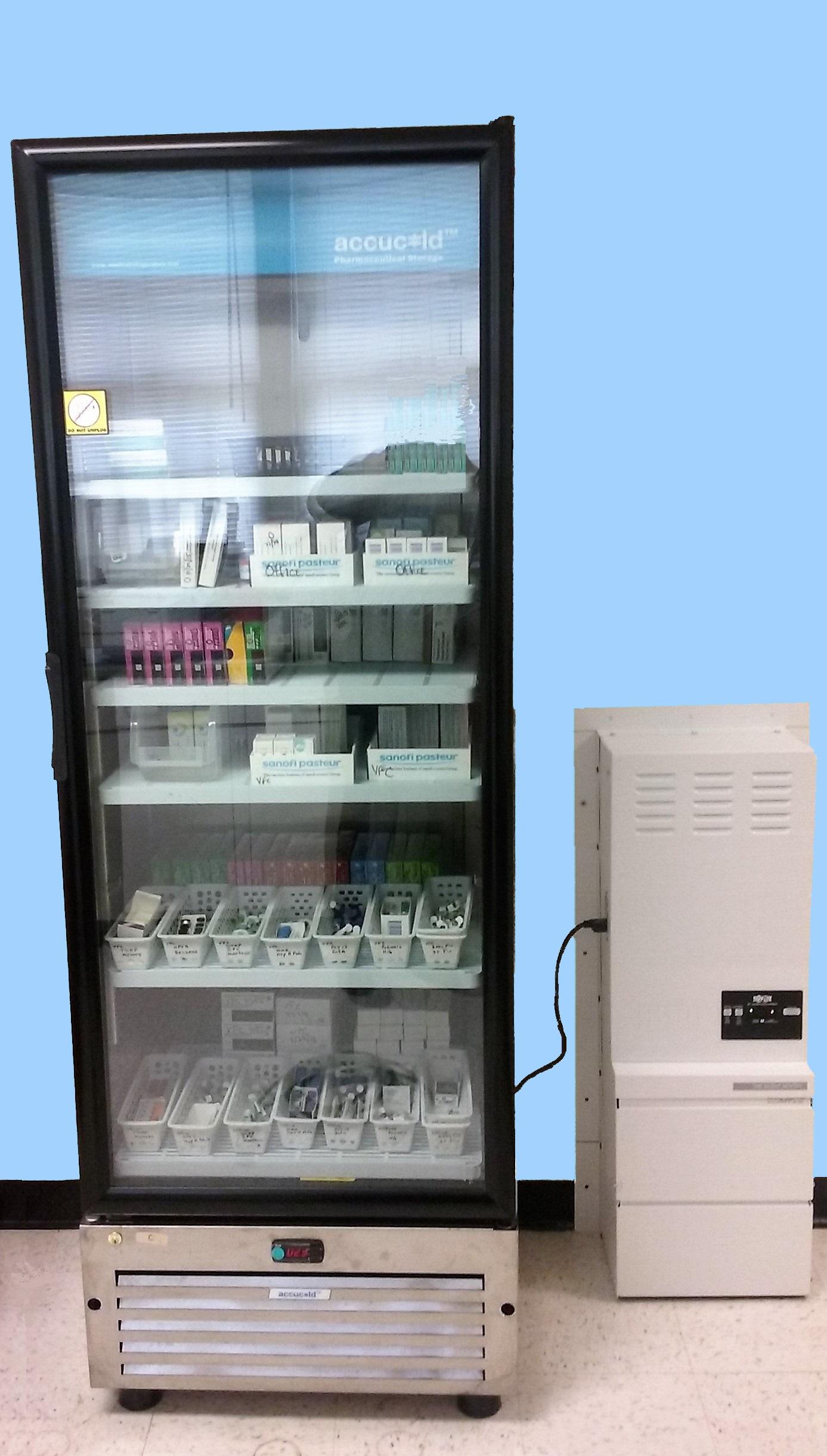vaccine storage and handling refrigerator backup
