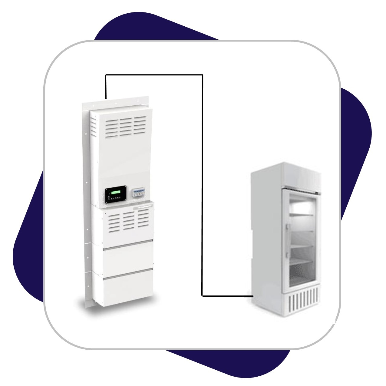 Standalone Refridgerator Battery Backup System