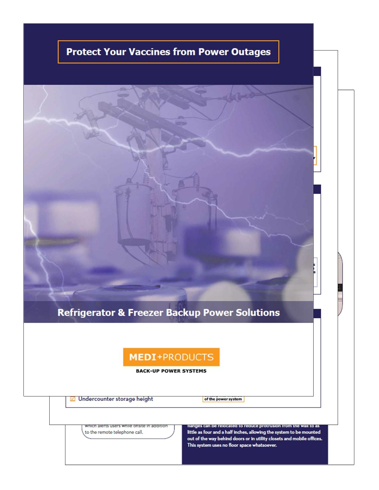vaccine battery backup brochure